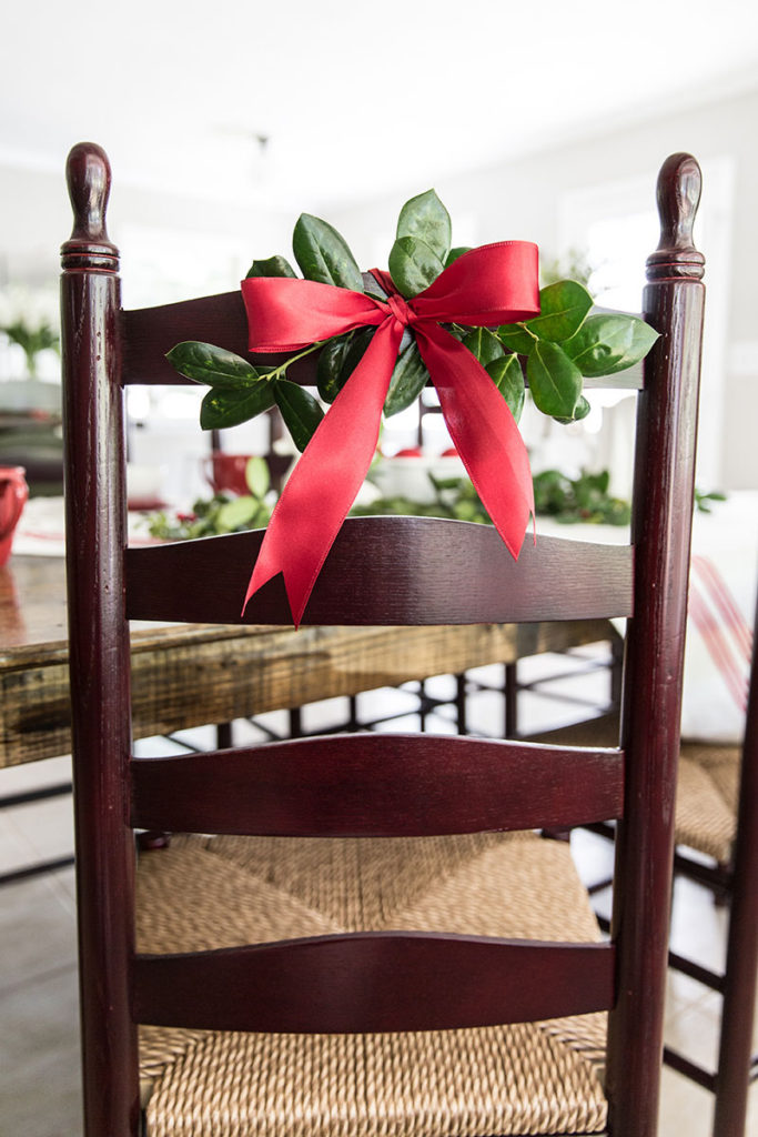 Decorate Your Dining Chair for Christmas